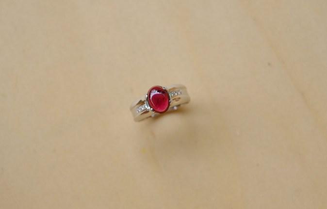 Garnet Cabochon Ring
