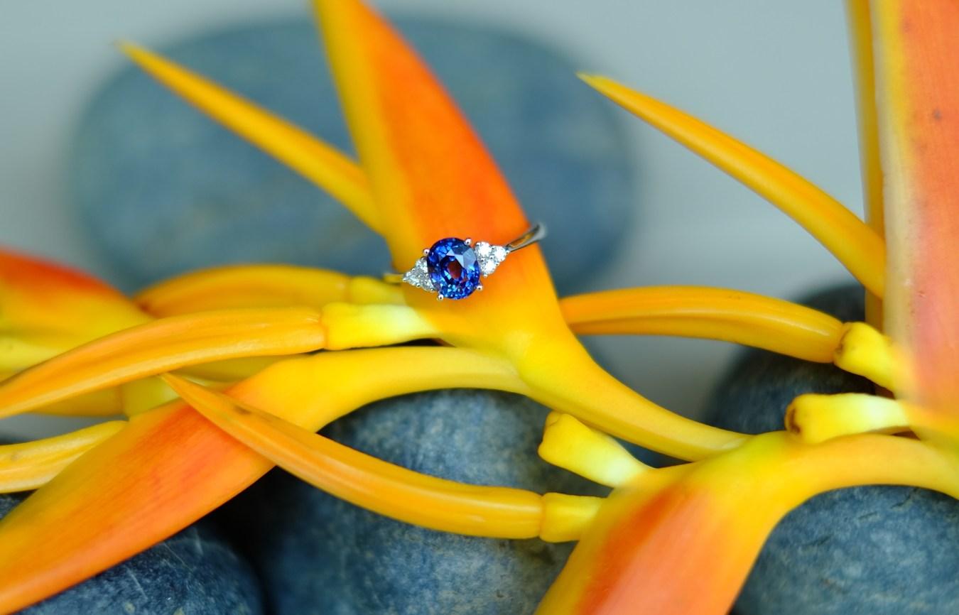 Bespoke Sapphire Engagement Ring Singapore