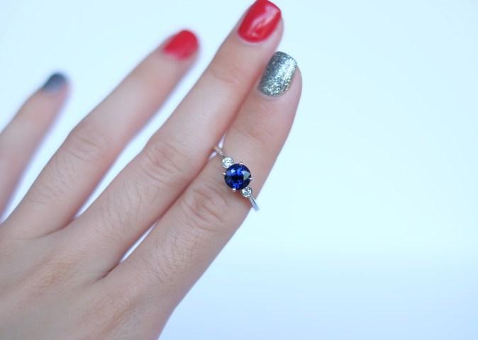 sapphire ring on finger singapore
