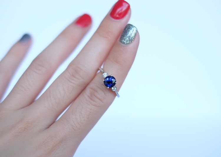 sapphire ring on finger singapore
