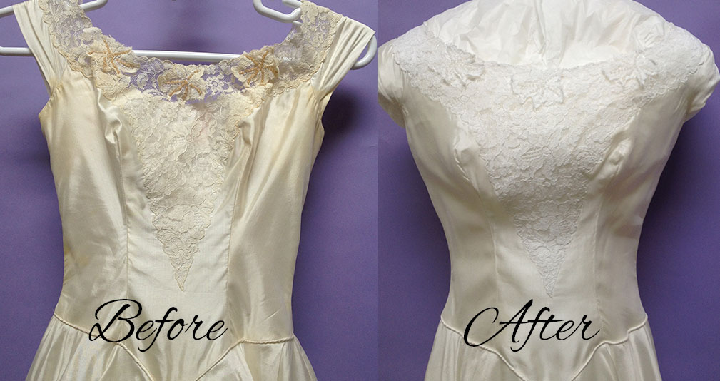 Patricia's Wedding Gown Restoration A Success