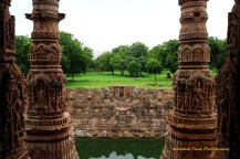 Massive Stone Pillars Leading To The Step Well