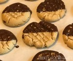 Dark Chocolate Dipped Peanut Butter cookies finished