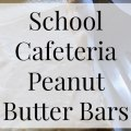 """School Cafeteria Peanut Butter Bars- Heritage Home Ec I love remembering the """"good old days"""" of high school. One of the best things was getting school pizza and these peanut butter bars on the menu. 