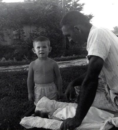 Dad, Brad, Baby Shawn
