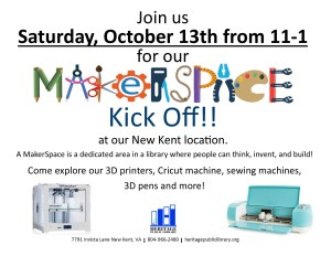 MakerSpace Kick-off!!! @ Heritage Public Library | New Kent | Virginia | United States
