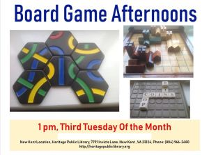 Board Game Afternoons @ Heritage Public Library | New Kent | Virginia | United States