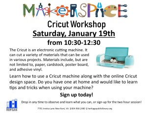 Heritage Public Library - MakerSpace Workshop Series