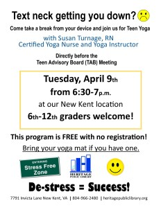Teen Yoga @ Heritage Public Library | New Kent | Virginia | United States