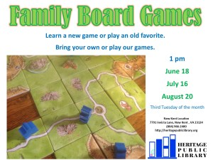 Family Board Games @ Heritage Public Library | New Kent | Virginia | United States