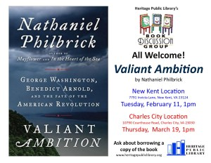 Book Discussion - Valiant Ambition @ Heritage Public Library | New Kent | Virginia | United States