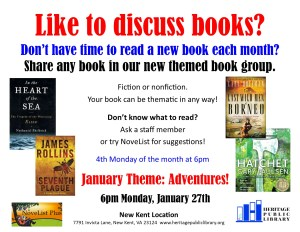 Themed Book Club - NK @ Heritage Public Library | New Kent | Virginia | United States