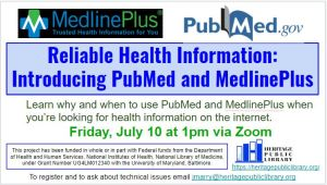 Reliable Health Information:  Introducing PubMed and MedlinePlus