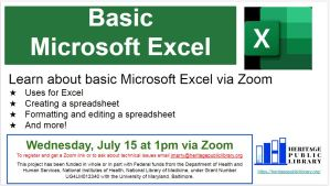 Learn About Basic Microsoft Excel via Zoom