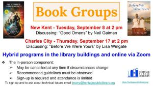 Hybrid Book Group - CC @ Heritage Public Library | Charles City | Virginia | United States
