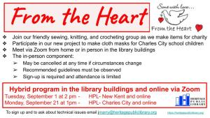 From the Heart - CC @ Heritage Public Library | Charles City | Virginia | United States