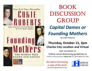 Hybrid Book Discussion Group - CC @ Heritage Public Library | Charles City | Virginia | United States
