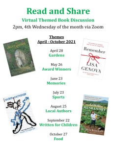Read and Share Virtual Book Discussion 📚