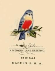 1940s Birthday Card- Back