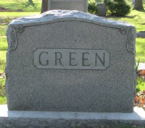 Family headstone of Abraham M. Green and Rose Brave Green. Mt. Olive Hebrew Cemetery, now United Hebrew Cemetery, University City, St. Louis, Missouri, USA. Image used with kind permission of FAG photographer.