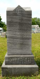 Bessie F. (Meyer) Cooper- Headstone- Hebrew Inscription. Posted with permission of Find A Grave photographer.