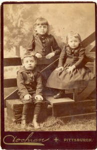 "Unknown Children- Green or Cooper Family? Photo taken by R.D. Cochran, ""Artistic Photographer"" in Pittsburgh, Pennsylvania."