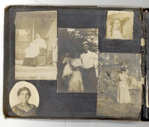 A Green Family Photo Album- Page 5. Woman at bottom left may be the mother of Abraham Green.