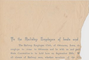 Murrell Family Bible-Ephemera_To the Railway Employees_1