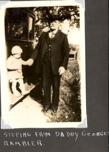 George A. Roberts with his grandson, about 1926.