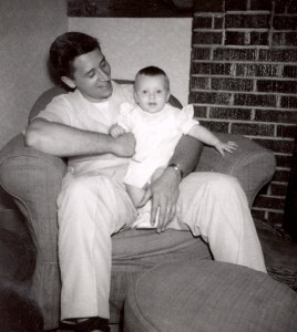 Edward A. McMurray, Jr., with his daughter, 1955.