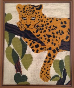 Irving I. Cooper's Needlework- Tiger, early 1970s.
