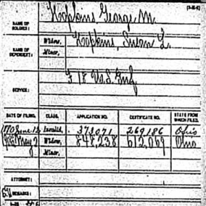 George M. Hopkins- Pension Record