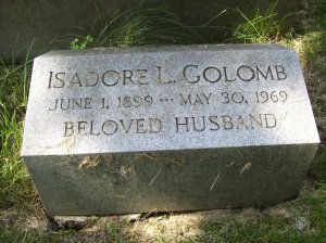 Isadore GOLOMB- Headstone, Bnai Israel Cemetery, Pittsburgh PA. With kind permission of FAG photographer.