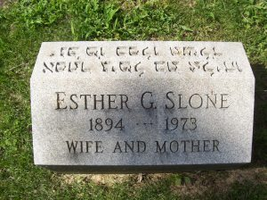 Esther G. (GOLOMB) SLONE- Headstone, Bnai Israel Cemetery, Pittsburgh PA. With kind permission of FAG photographer.