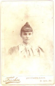 Sarah Green Golomb, possibly c1895.