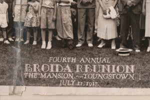Fourth Annual Broida Family Reunion, July 11, 1937. Youngstown, Ohio. 2A