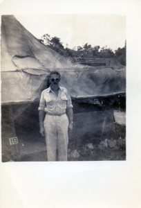 Possibly Edward A. McMurray, Jr., in South Pacific or Australia, c1944.
