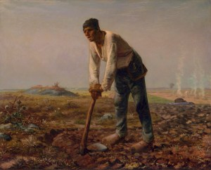 """L'homme à la houe (The Man with the Hoe)"" by Jean-François Millet - The Getty Center, Object 879, Digital image courtesy of the Getty's Open Content Program. Licensed under Public Domain via Wikimedia Commons."