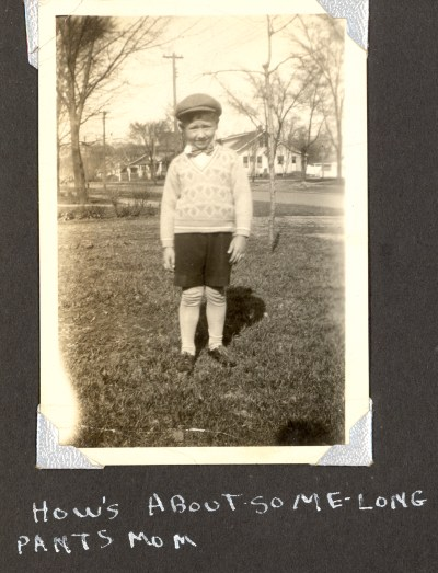 About 1929? Edward A. McMurray, from his own photo album in which he wrote the captions, created  in the late 1940s.