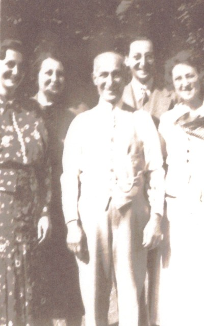 Joseph Cooper and His Children, from left: Ann, Rose, Irving, and Loretta, with Joseph in front center