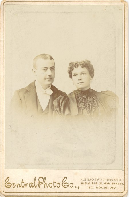 John Andrew BRANDENBERGER and his wife Christina FUNKE, c1854?