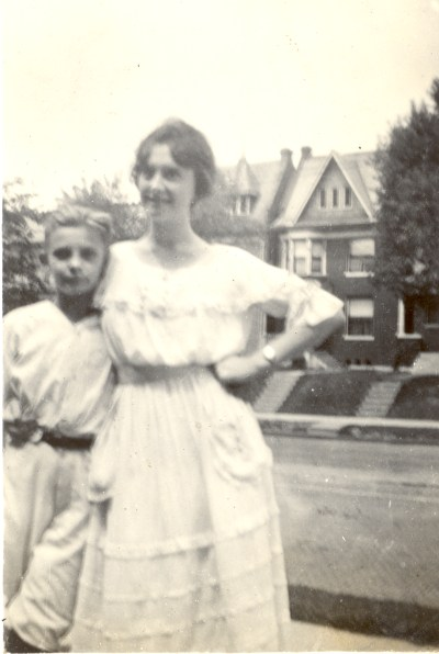 Roberta P. Beerbower with her cousin Edgar Helbling. August 1920