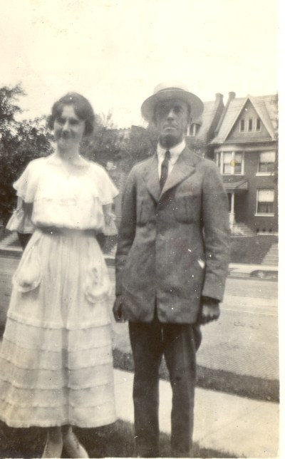 Roberta P. Beerbower with her paternal uncle Edgar Springsteen Beerbower. August 1920.