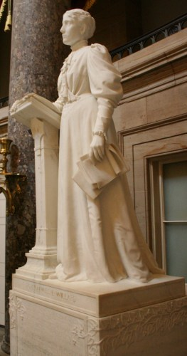 """Statue of Frances Willard in the US Capitol"" by RadioFan at English Wikipedia. Licensed under CC BY-SA 3.0 via Wikimedia Commons - http://commons.wikimedia.org/wiki/File:Statue_of_Frances_Willard_in_the_US_Capitol.JPG#mediaviewer/File:Statue_of_Frances_Willard_in_the_US_Capitol.JPG"
