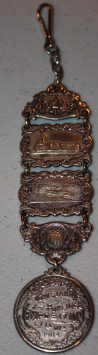 Souvenir of 1904 St. Louis World's Fair-Watch Fob-front.