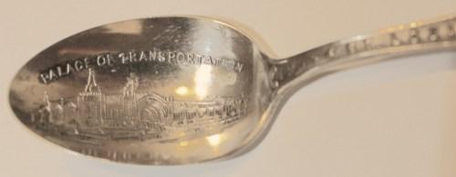 1904 Louisiana Exposition Souvenir- Spoons- Palace of Transportation