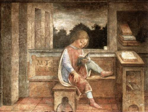 The Young Cicero Reading by Vincenzo Foppa (fresco, 1464)