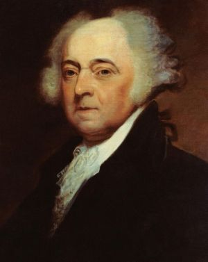 President John Adams (1735-1826), 2nd president of the United States, by Asher B. Durand (1767-1845). via Wikimedia, public domain.