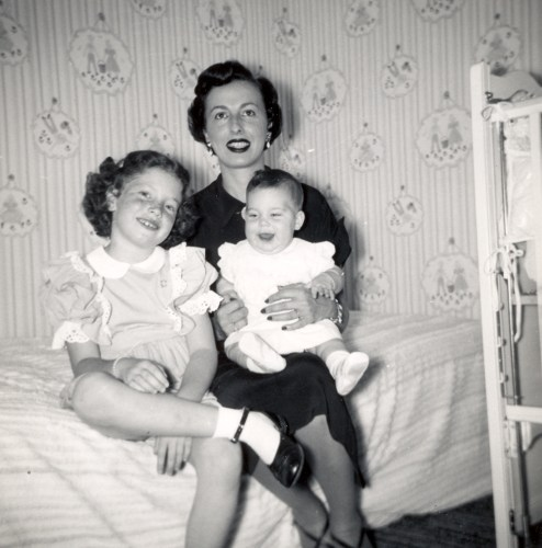 Arline Sobel and daughters.