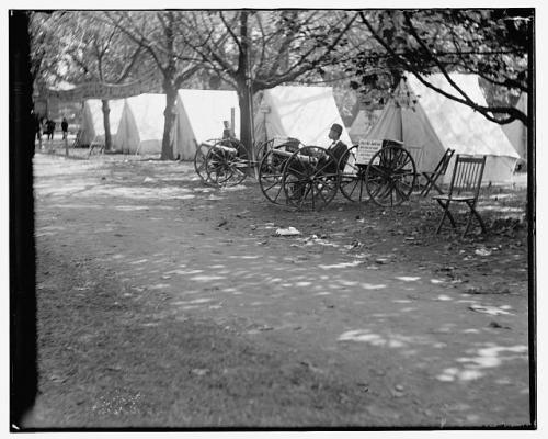 """The Big Guns."" October, 1902 GAR Encampment, Washington, D.C. Glass negative, via Library of Congress, no restrictions."